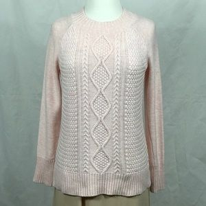 EUC Long Sleeve Pink Wool Blend Knit Sweater